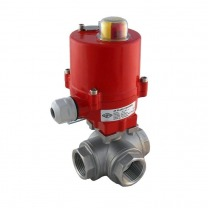 Electric Ball Valve 3-Way Stainless Steel
