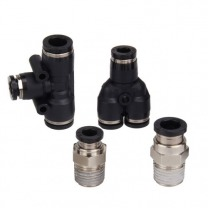 brass & plastic push-in fittings