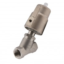 pneumatic angle seat valves