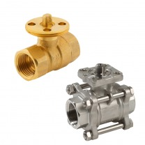 ball valve suited for actuators