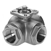 3-way stainless ball valves (ISO-top)