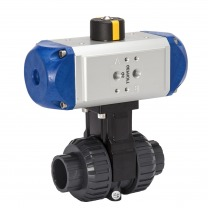 pneumatic actuated PVC ball valves