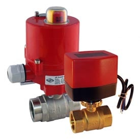 Electric Ball Valve for Hot Water and Steam Applications